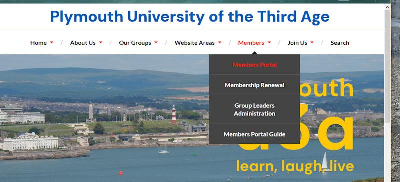 Members Portal Selected